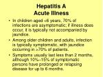 hepatitis a acute illness