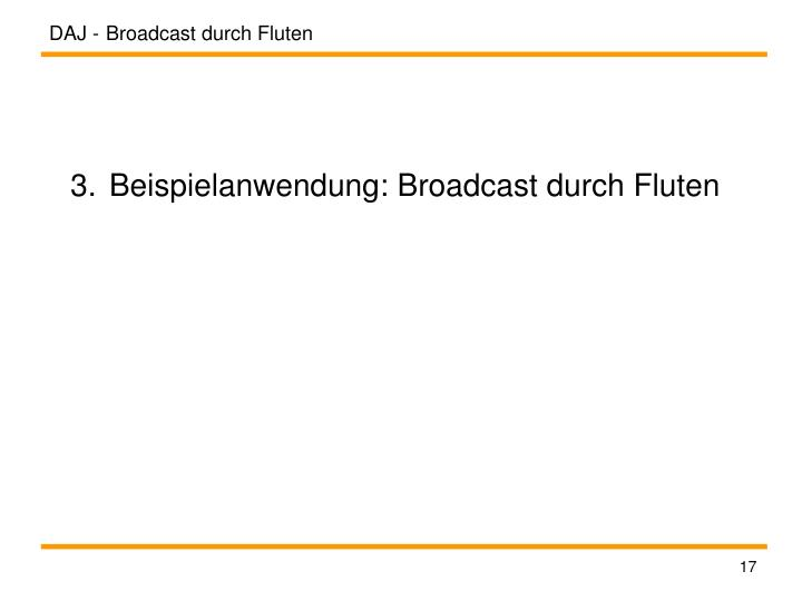 Broadcast durch Fluten