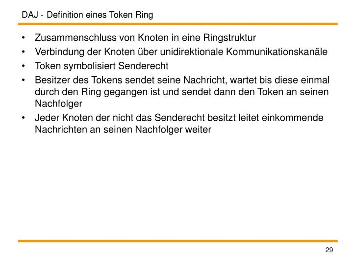 Definition eines Token Ring