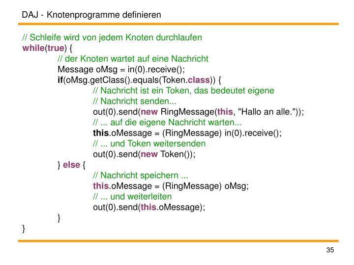 Knotenprogramme definieren