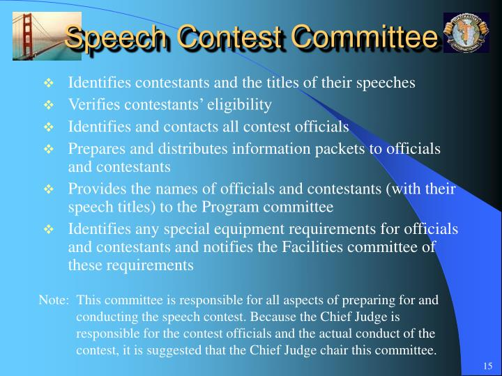 Speech Contest Committee