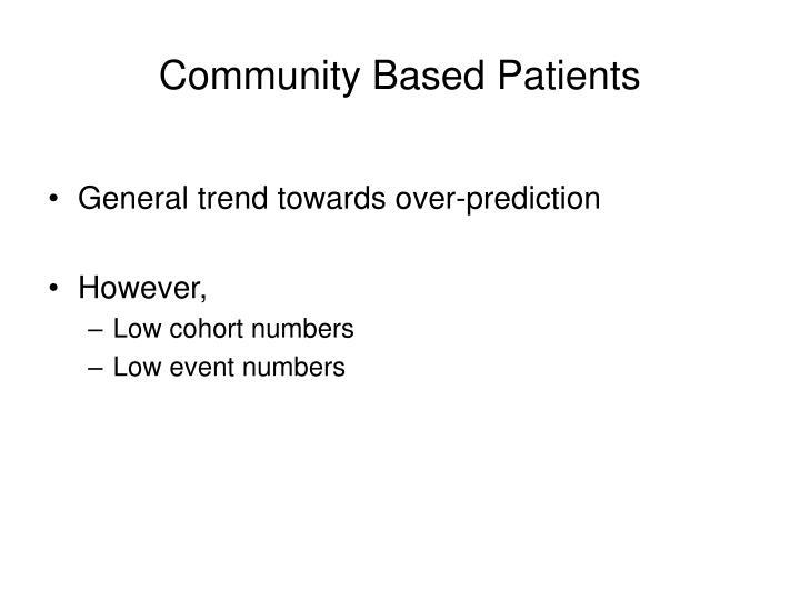 Community Based Patients