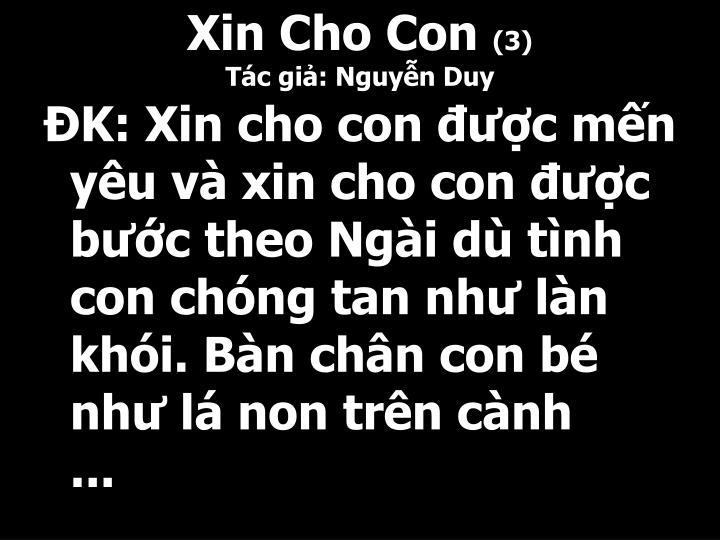 Xin Cho Con