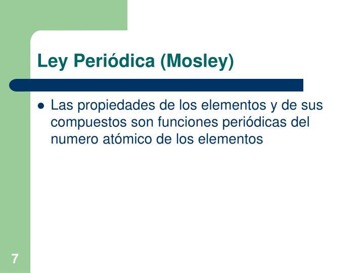 Ley Periódica (Mosley)