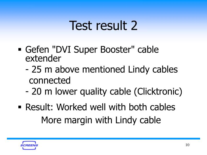 Test result 2