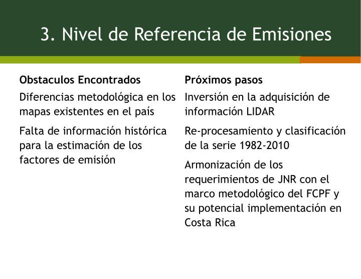 3. Nivel de Referencia de Emisiones