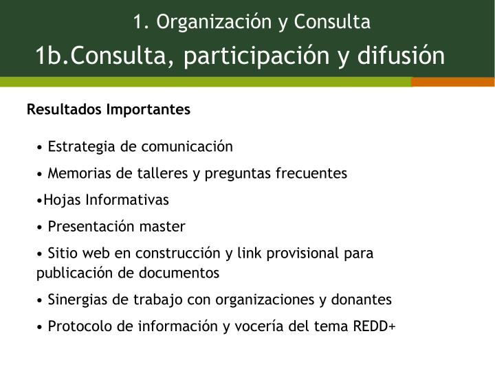 1. Organización y Consulta