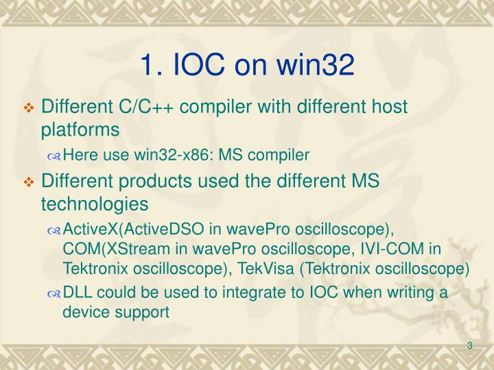 1. IOC on win32