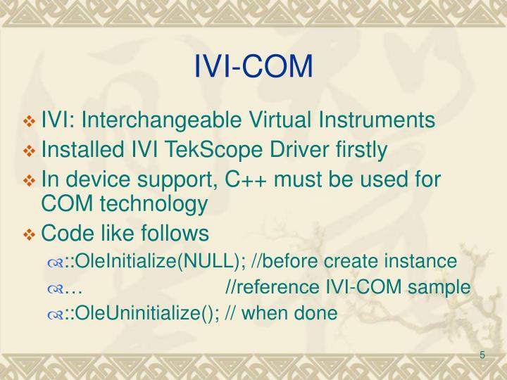 IVI-COM