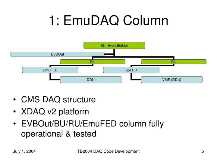 1: EmuDAQ Column