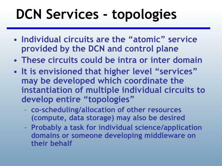DCN Services - topologies