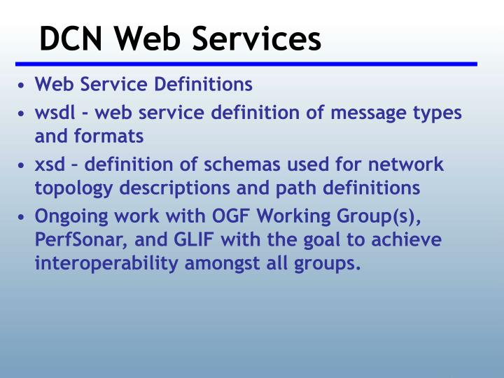 DCN Web Services
