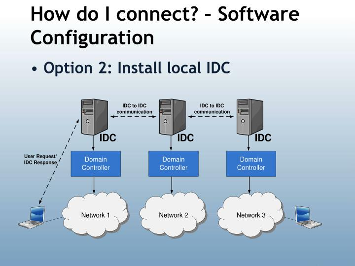 How do I connect? – Software Configuration