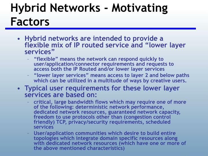 Hybrid Networks - Motivating Factors