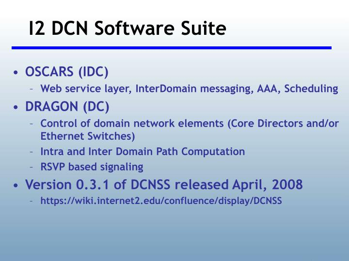 I2 DCN Software Suite
