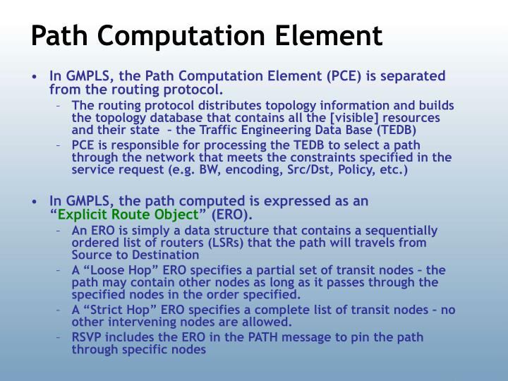 Path Computation Element