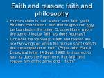 faith and reason faith and philosophy