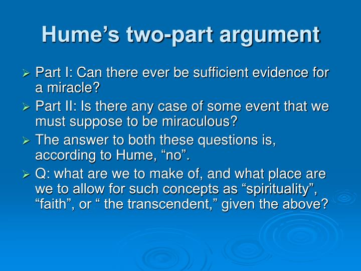 Hume's two-part argument