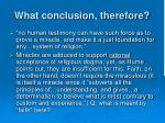 what conclusion therefore1
