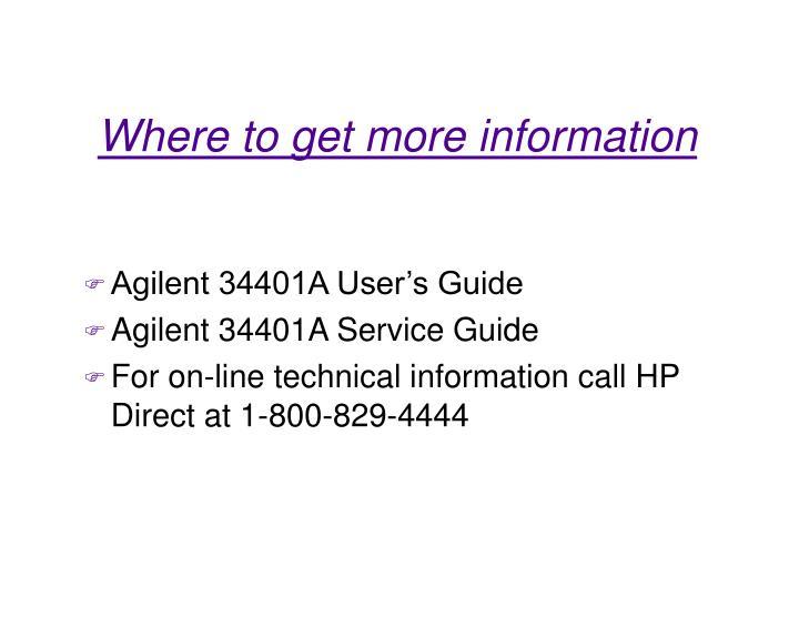 Agilent 34401A User's Guide