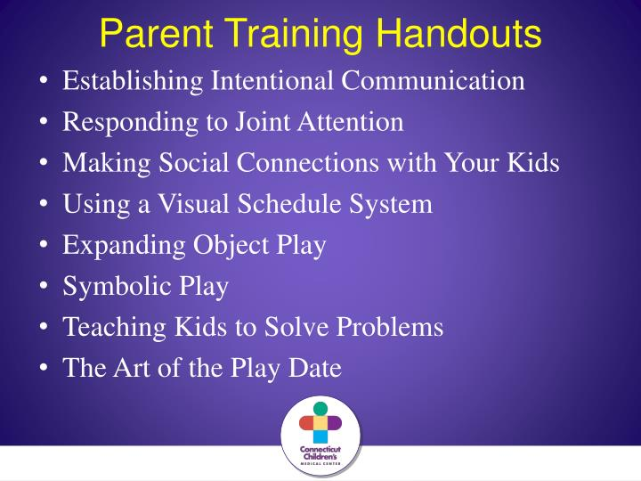 Parent Training Handouts