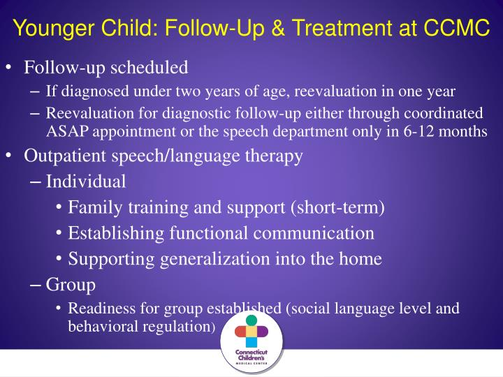 Younger Child: Follow-Up & Treatment at CCMC