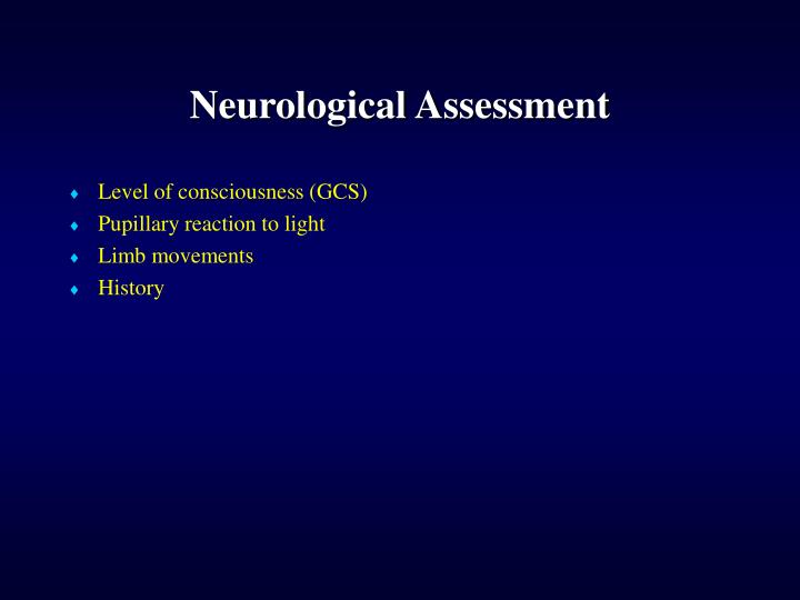 Neurological Assessment