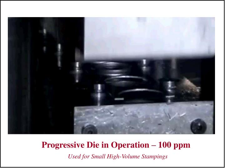 Progressive Die in Operation – 100 ppm