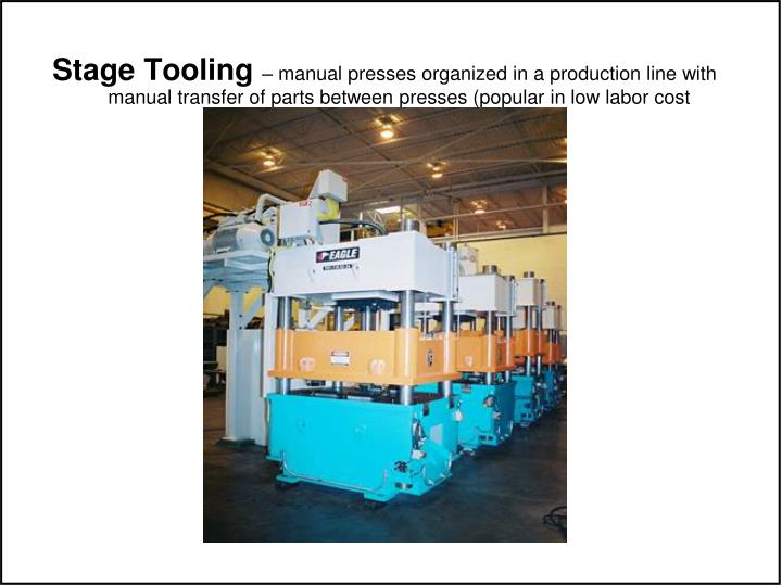 Stage Tooling