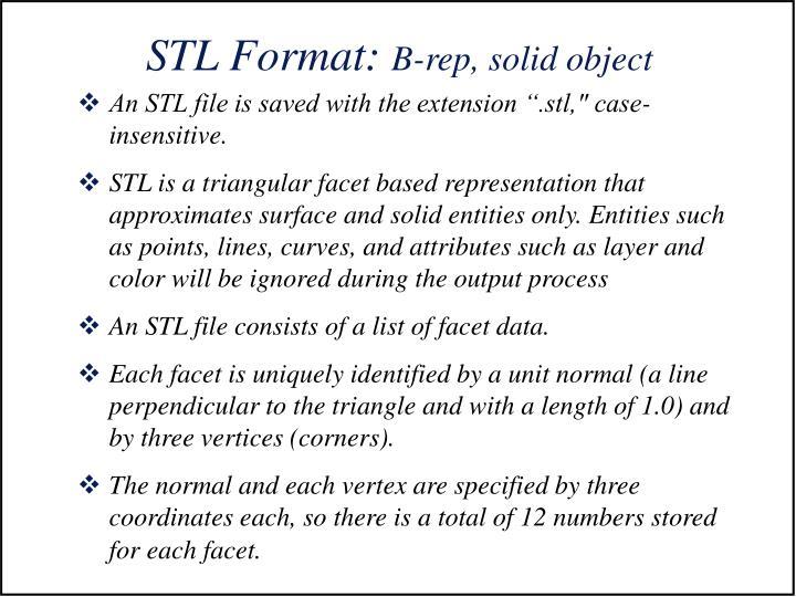 STL Format: