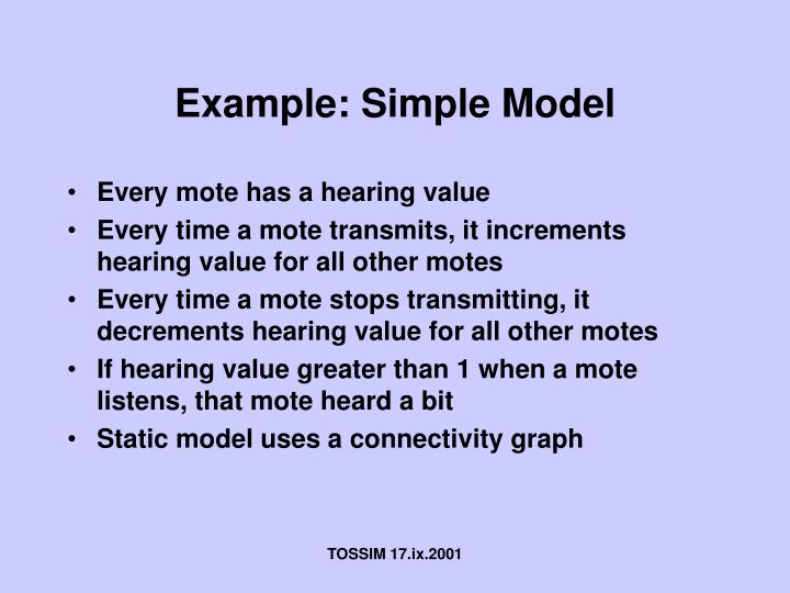 Example: Simple Model