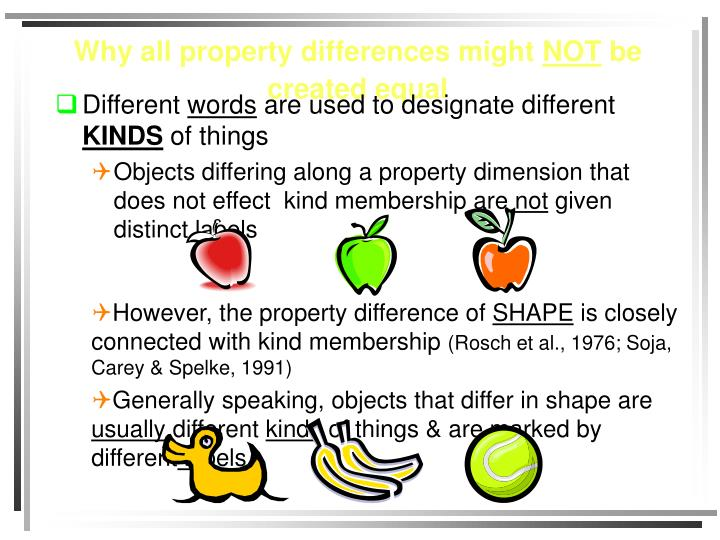Why all property differences might