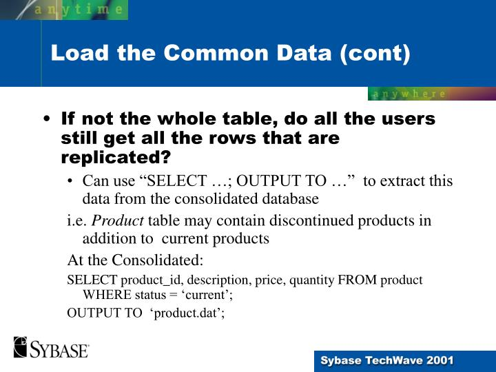 If not the whole table, do all the users still get all the rows that are replicated?