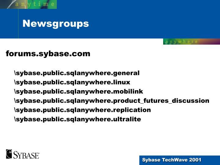 forums.sybase.com