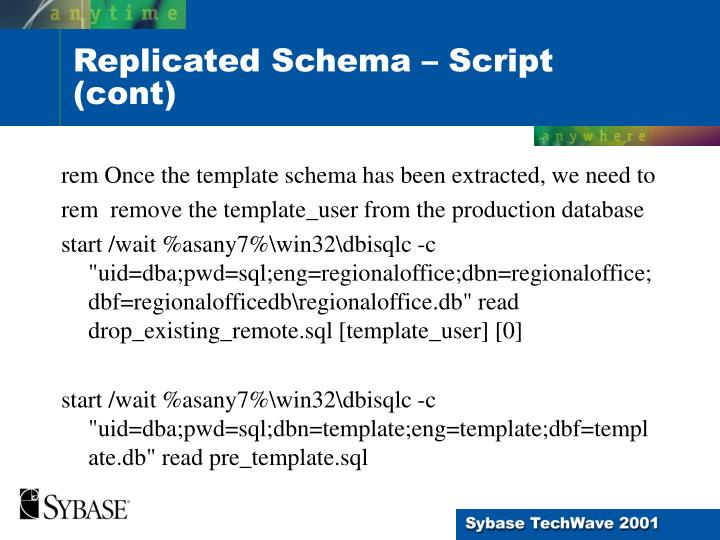 rem Once the template schema has been extracted, we need to