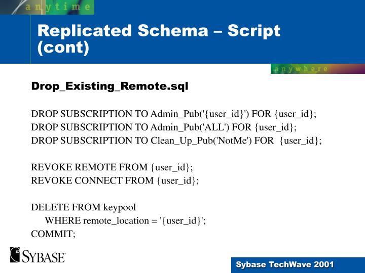 Drop_Existing_Remote.sql