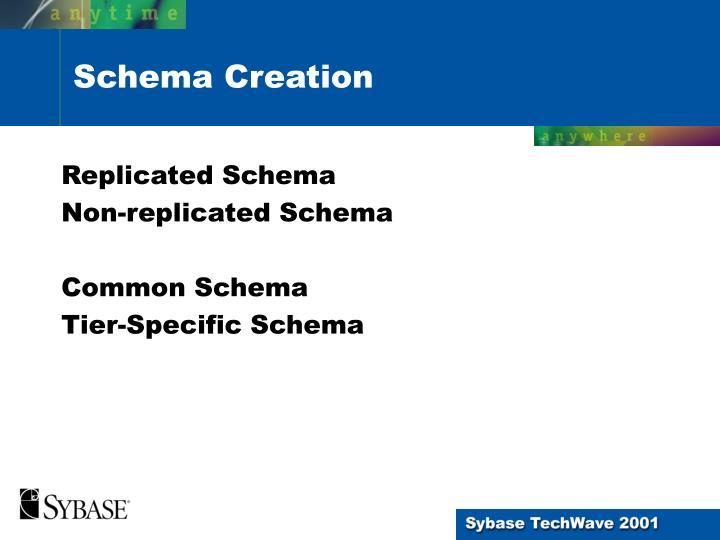 Replicated Schema