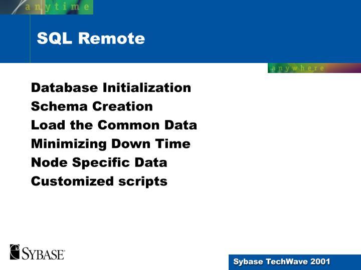 Database Initialization