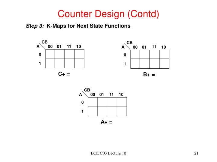 Counter Design (Contd)