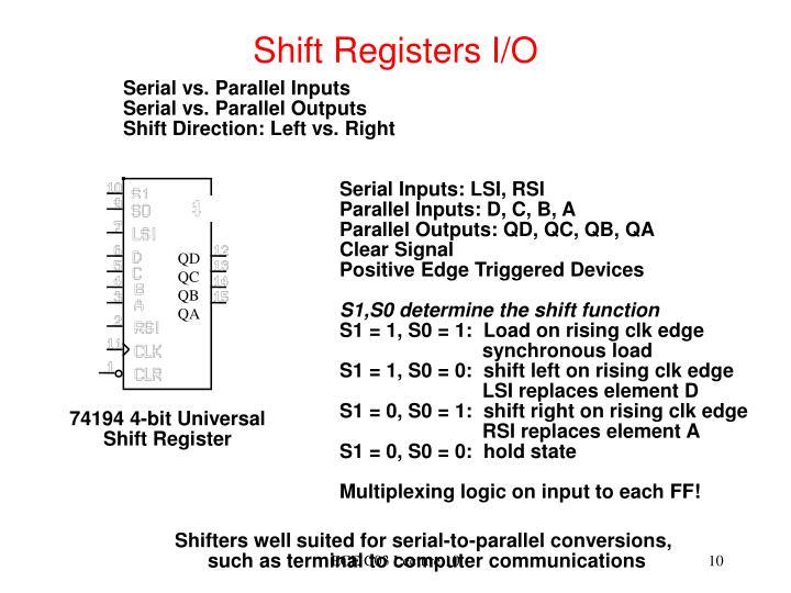 Shift Registers I/O