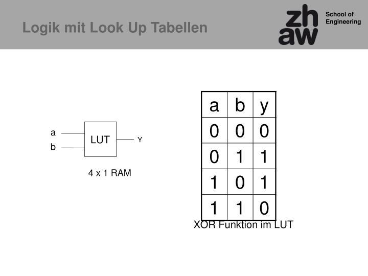 Logik mit Look Up Tabellen