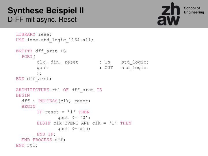 Synthese Beispiel II