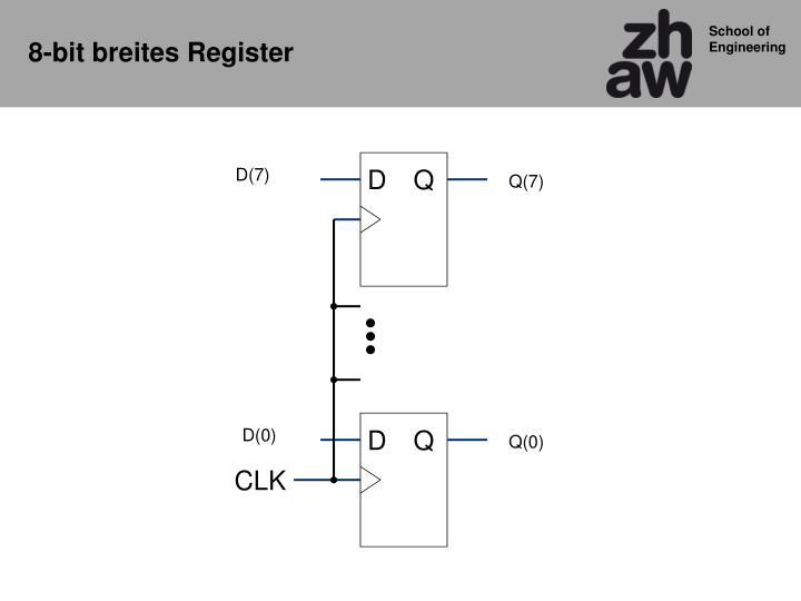 8-bit breites Register