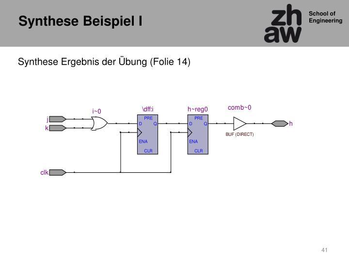 Synthese Beispiel I