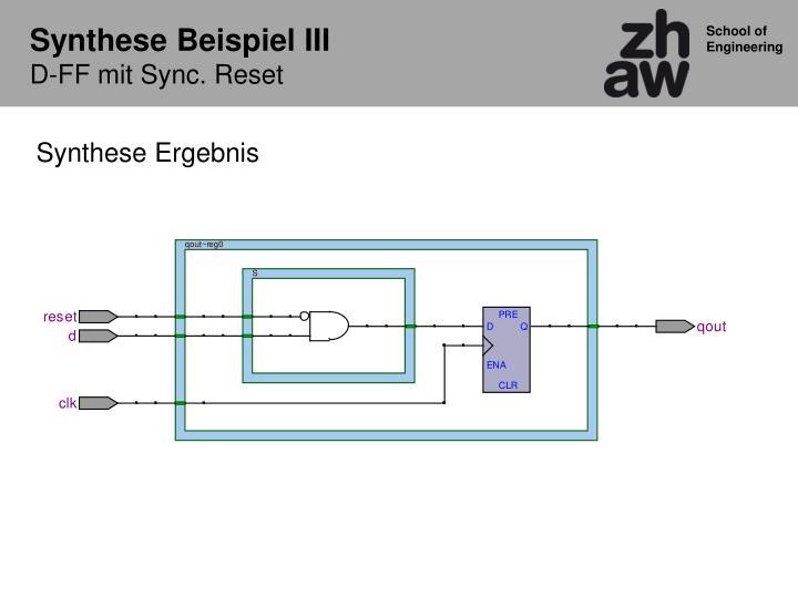 Synthese Beispiel III