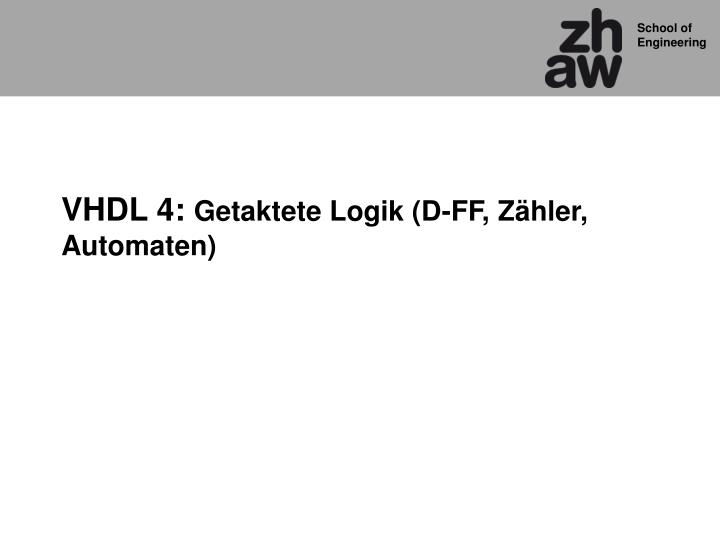 VHDL 4: