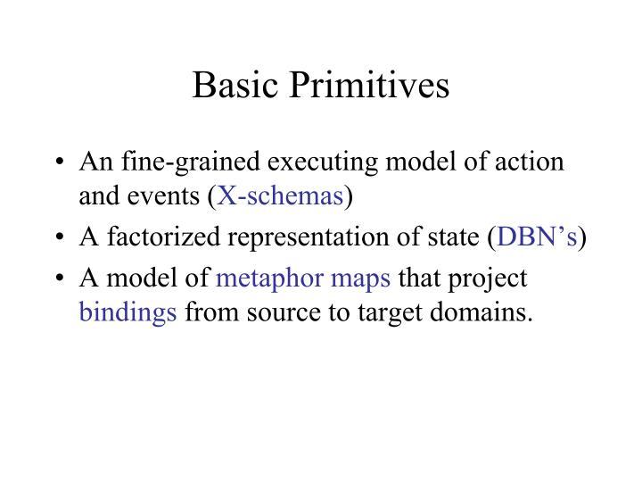 Basic Primitives
