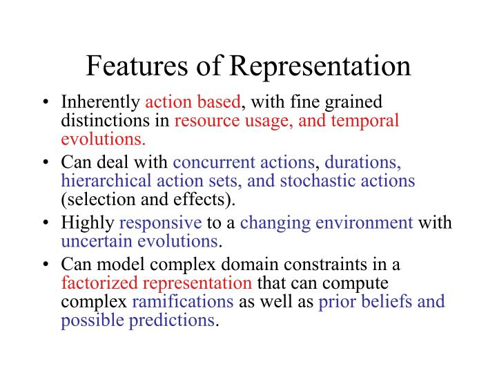 Features of Representation