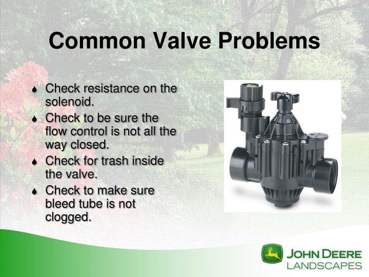 Common Valve Problems