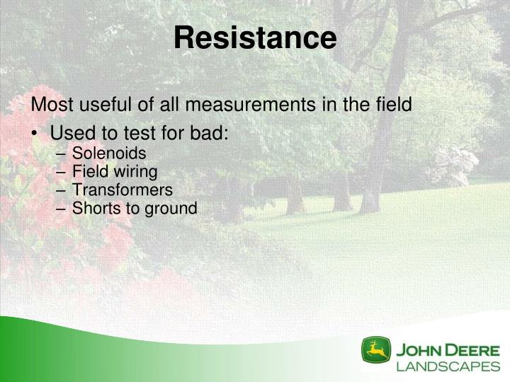 Most useful of all measurements in the field